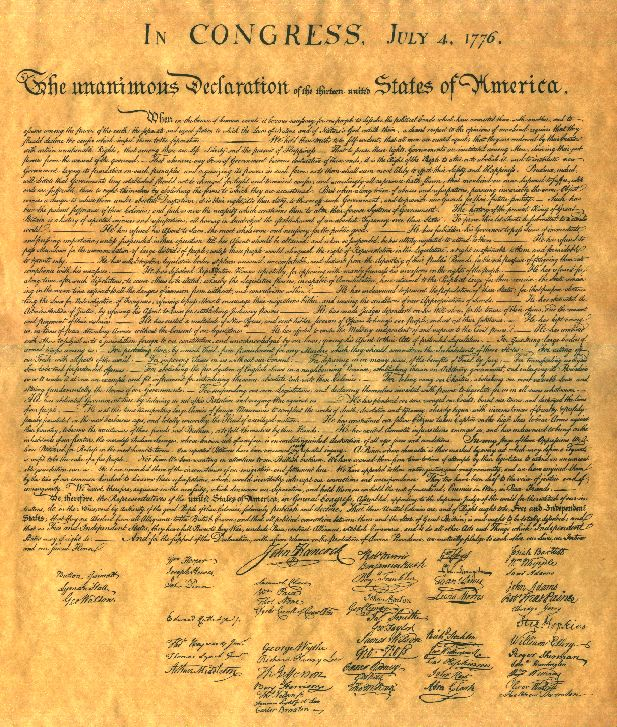 the declaration of independence was written in