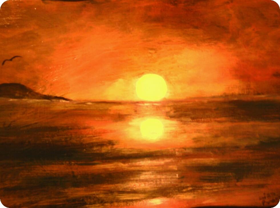 sunset painting | Elizabeth Melton Parsons