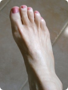 my incredible shrinking foot