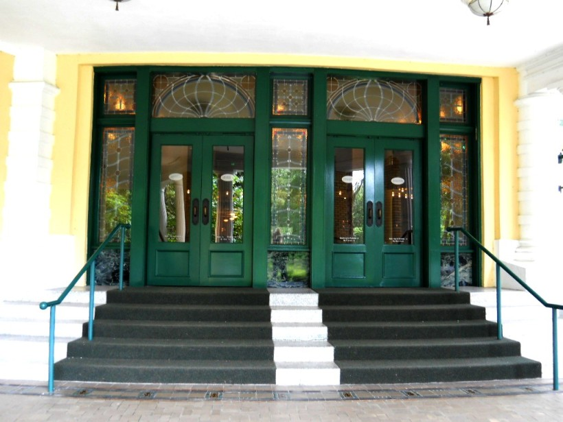 an entrance door