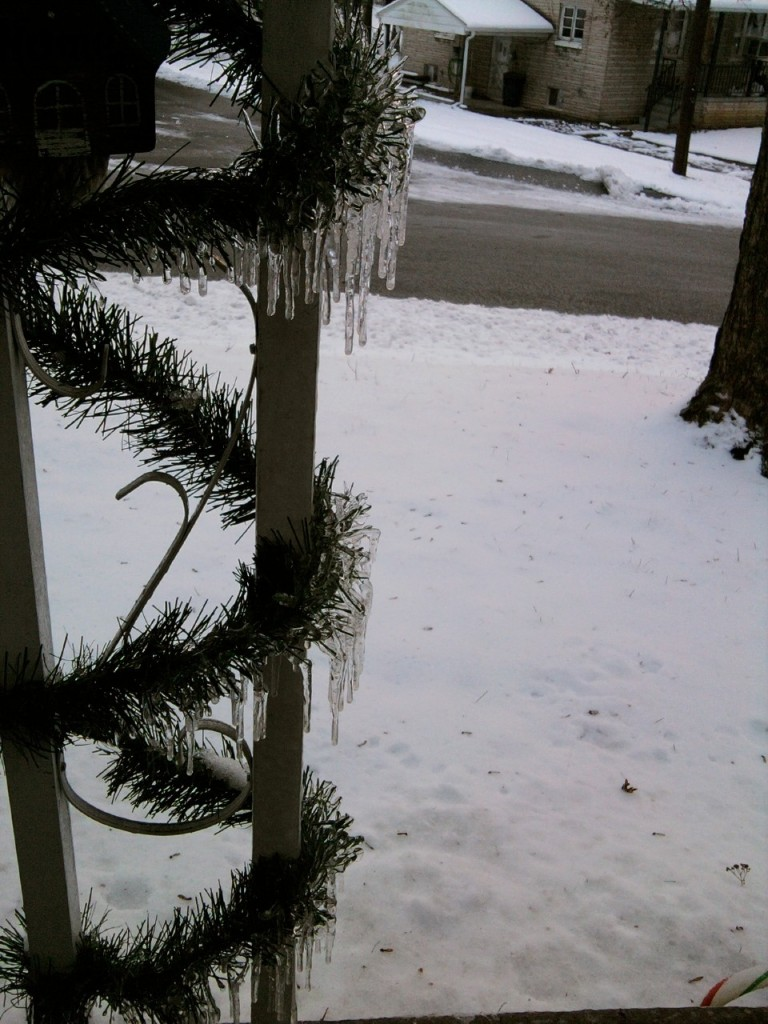 icicles on garland