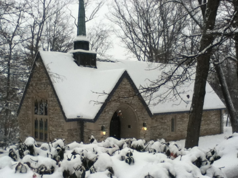 IU Chapel-snow