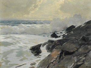 Frederick_Judd_Waugh_-_Along_the_Coast,_oil_on_board