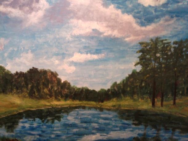 plein air pond