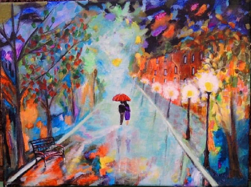 romance in the rain