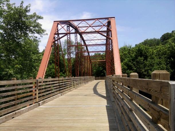 Rothrock Mill Bridge - Indian Creek Trail-Hayswood Nature Preserve in Historic Corydon, Indiana