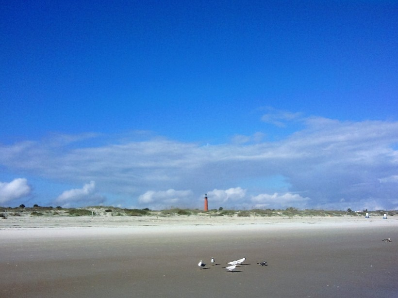 lighthouse from beach